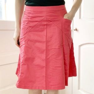 Express pink a-line midi skirt with pockets 6